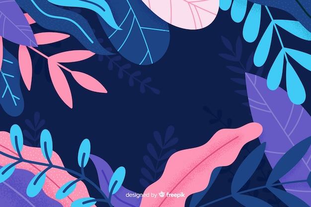 Getrokken abstract floral achtergrond