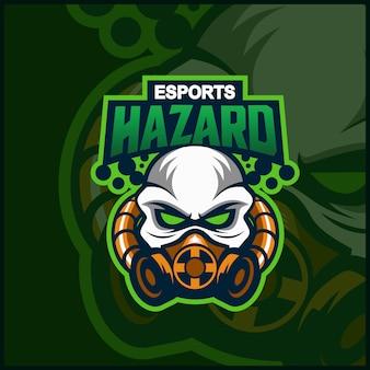 Gevaar mascotte logo ontwerp