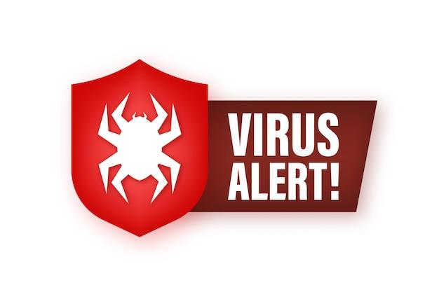 Gevaar symbool vectorillustratie virus bescherming computer virus alert
