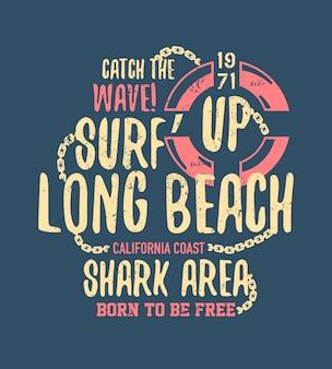 Gevaarlijke haai illustratie met typo