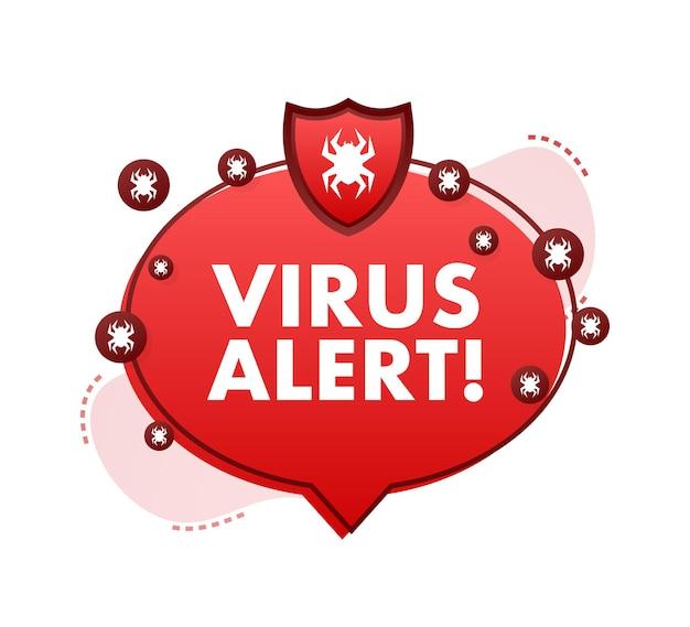 Gevaarsymbool vectorillustratie virusbescherming computerviruswaarschuwing