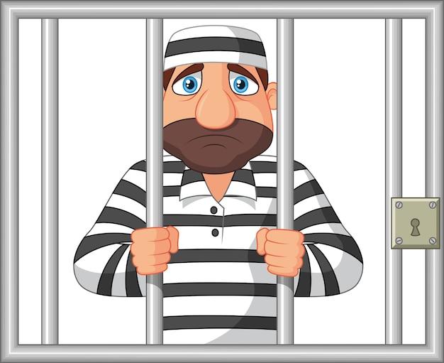 Gevangene achter de bar