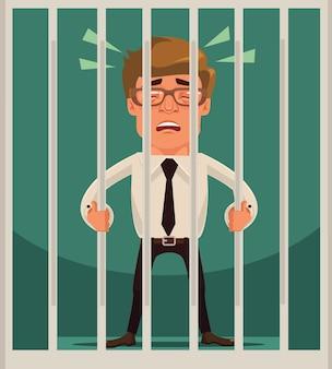 Gevangene zakenman karakter.