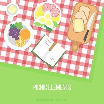 Gevarieerd picknick achtergrond