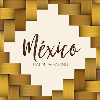 Gevectoriseerde palm weven frame sjabloon