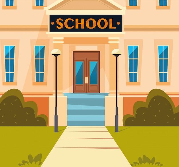 Gevel van schoolgebouw structuur