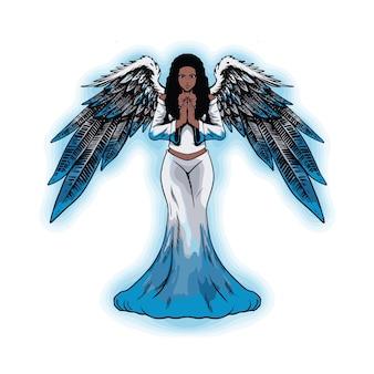 Gevleugelde engel illustratie