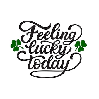 Gevoel vandaag geluk poster