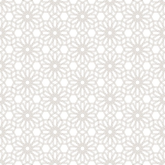 Gevoelig naadloos patroon in arabische stijl