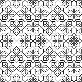 Gevoelig naadloos patroon in oosterse stijl - variatie 1