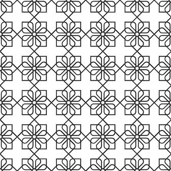 Gevoelig naadloos patroon in oosterse stijl - variatie 2
