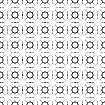 Gevoelig naadloos patroon met gestileerde sterren in arabische stijl
