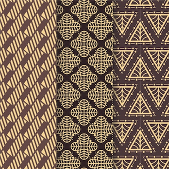 Gevormd art deco naadloos patroon