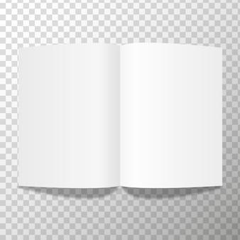 Gevouwen afbeelding van het de illustratieconcept van het witboekblad het vector