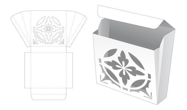 Gevouwen doos met luxe stencil gestanst sjabloon