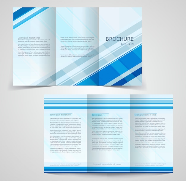 Gevouwen zakelijke brochure sjabloon, tweezijdig sjabloonontwerp