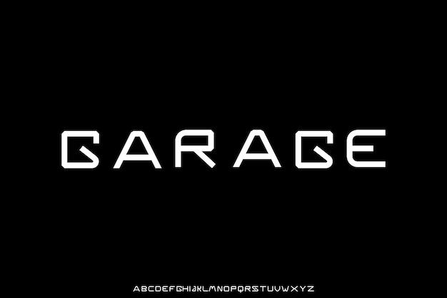 Gewaagd futuristisch uniek lettertype