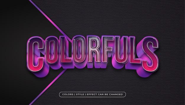 Gewaagde kleurrijke tekststijl met realistische plastic textuur