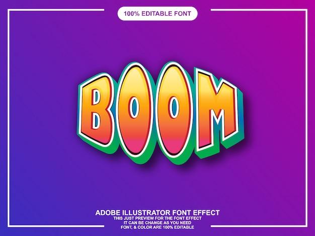 Gewaagde leuke grafische stijl illustrator bewerkbare typografie