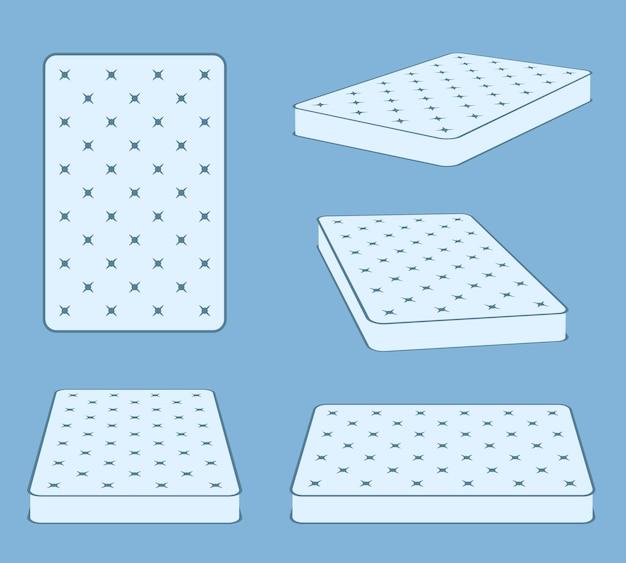 Gewatteerde comfortabele matras met slaapmat