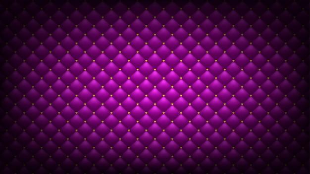 Gewatteerde roze achtergrond. gouden harten. breedbeeld romantisch behang