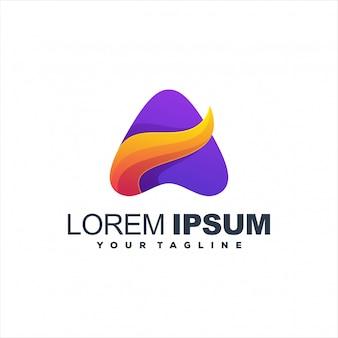 Geweldig abstract verloop logo ontwerp