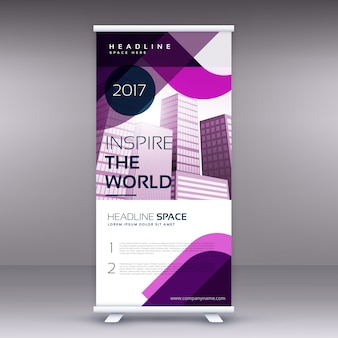 Geweldig bedrijf roll up banner of standee design template