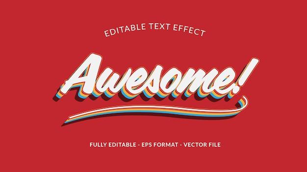 Geweldig bewerkbaar teksteffect in retro of vintage