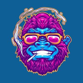 Geweldig gorilla-logo-ontwerp