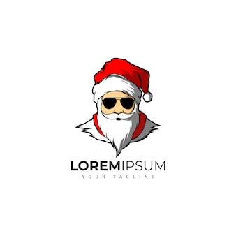 Geweldig kerstmis logo van kerstman