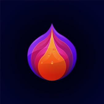 Geweldig kleurrijk fruit premium logo sjabloon