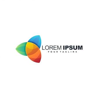 Geweldig kleurrijk logo voor toepassing