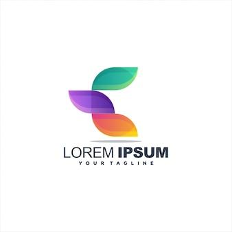 Geweldig letter e-logo
