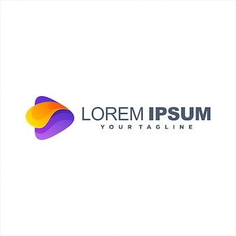 Geweldig logo ontwerp met kleurverloop