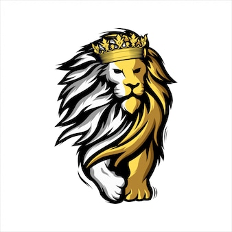 Geweldig mascotte leeuw-logo