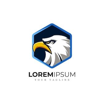 Geweldig modern mascot eagle-logo