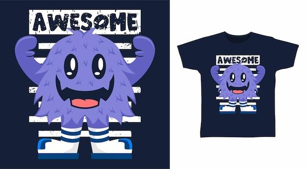 Geweldig monster t-shirt ontwerp