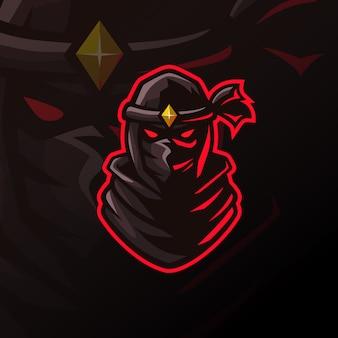 Geweldig ninja-logo voor esport