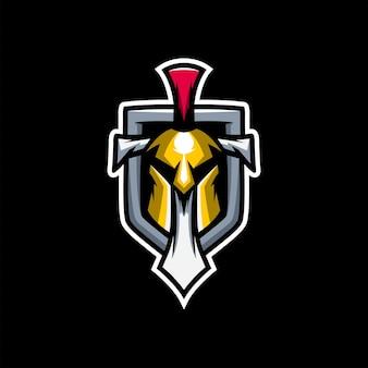 Geweldig spartaans zwaard met vector