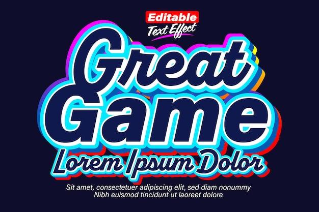 Geweldig spel donker levendig teksteffect