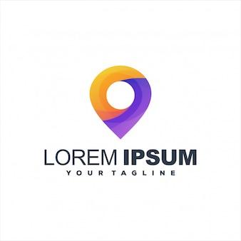 Geweldig speldgradiënt logo-ontwerp