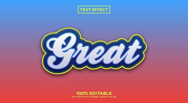 Geweldig teksteffect