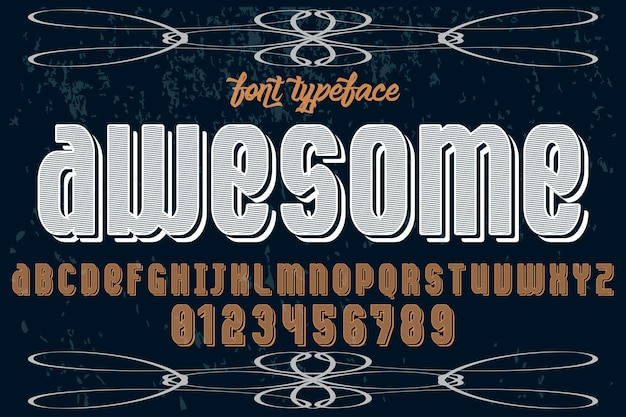Geweldig vintage lettertype label