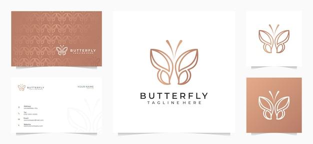Geweldig vlinderlogo