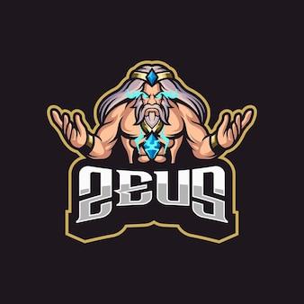 Geweldig zeus-logo voor je gaming-tim