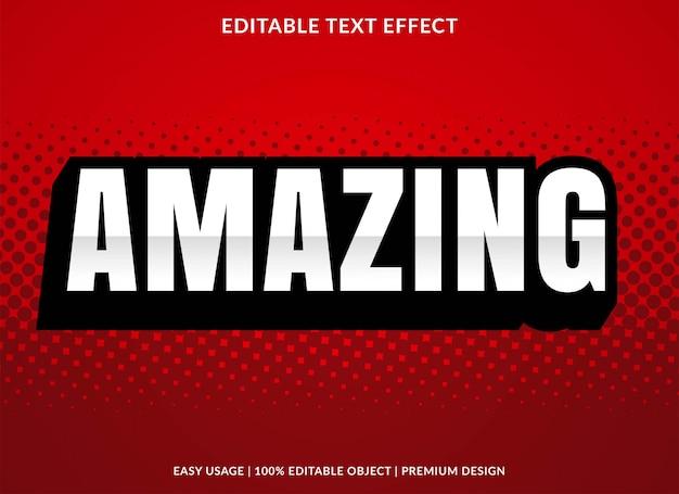 Geweldige 3d teksteffectsjabloon