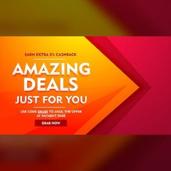 Geweldige aanbiedingen verkoop aanbieding banner
