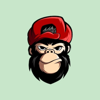 Geweldige aap mascot