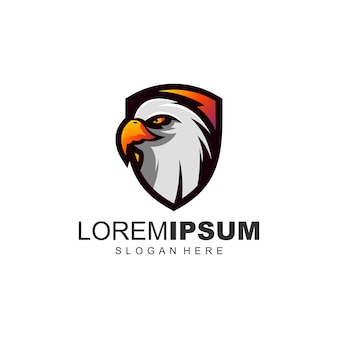 Geweldige adelaar logo ontwerpsjabloon