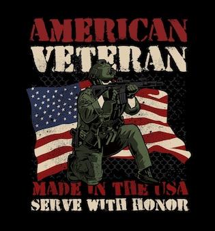 Geweldige amerikaanse veteraan leger illustratie